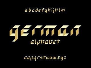 German font. Vector alphabet