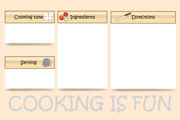 Cooking board vector in traditional design ready for your text