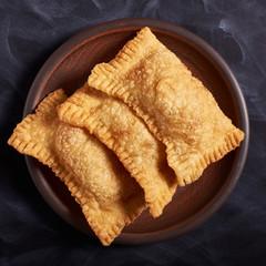 Brazilian food pastel. Homemade.