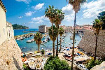 view on Old Town Dubrovnik in Dalmatia, Croatia