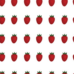Strawberry vector seamless pattern. Organic. Fruit. summer. Wrapping paper.