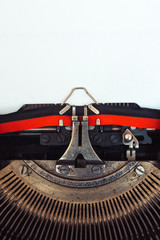 Paper in vintage typewriter