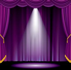 spot purple curtain