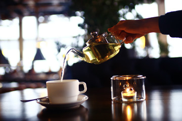 cup teapot drink hot cafe