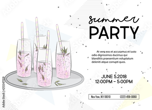 Summer time party invitation alcohol sparkle drinks poster summer time party invitation alcohol sparkle drinks poster vacation vibes graphics greeting card stopboris Gallery