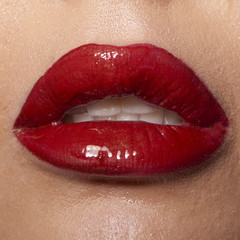 Poster Fashion Lips Wet red lips