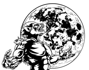 Full Moon Werewolf Scary Monster