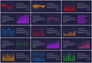 Statistics and Analytics Banner Information Charts