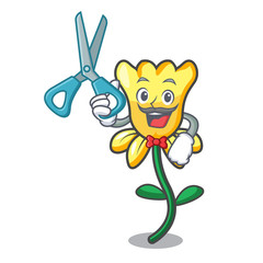 Barber daffodil flower character cartoon