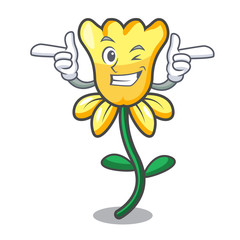 Wink daffodil flower character cartoon