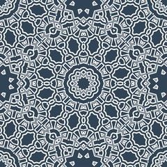 Abstract repeat backdrop with lace floral ornament. Seamless Design for prints, textile, decor, fabric. Vector pattern