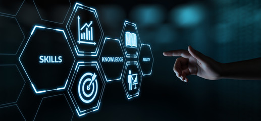 New Skills Knowledge Webinar Training Business Internet Technology Concept