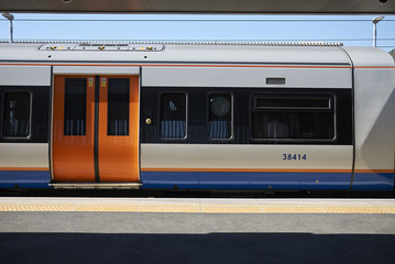 London, United Kingdom - June 25, 2018 : Overground train in Hackney
