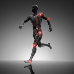 Athlet mit Schmerzpunkten