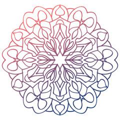 colorful mandala pattern for logo design  coloring books