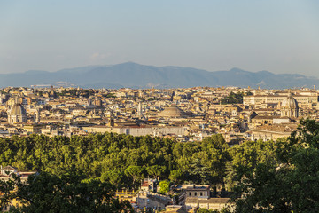 Panorama of Rome, Italy. View from Gianicolo Hill