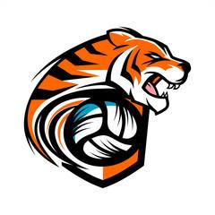 Tiger Volleyball Team Logo