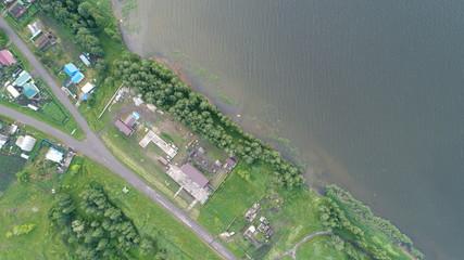 Huge lake, aerial view