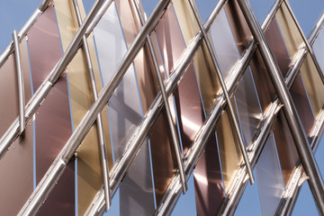 Metal Abstract With Lines And Angles In Lansing Michigan