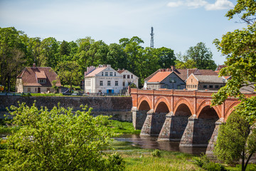Kuldiga Old Bridge-the widest waterfall in the Baltics on the River Venta and Ventas Rumba Waterfall