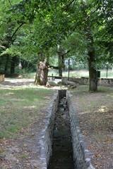 Saint-Herblain - Parc de la Bégraisière - Ruissellement d'eau des trois étangs du Tillay
