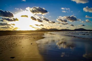 Der Strand von Famara auf Lanzarote