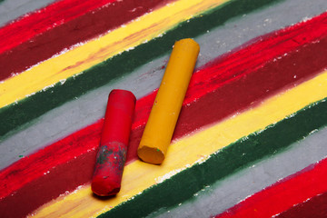Photo of crayon drawing, Colorful texture for background.