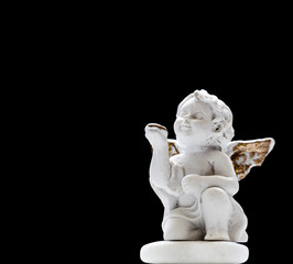 Figurine Of Baby Angel On Black Background 1