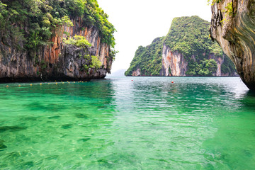 Beautiful seascape with clear water at Laolading island