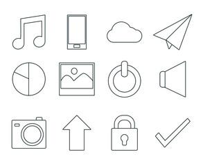 Set of smartphone app symbols