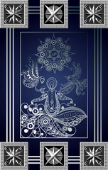 Graphical illustration of a Tarot card 4_2