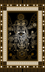 Graphical illustration of a Tarot card 5