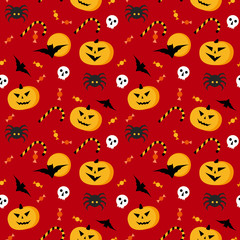 Seamless halloween vector pattern