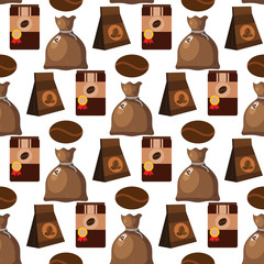 Coffee cup coffeemaker seamless pattern background vector texture drink food illustration.
