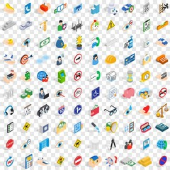 100 care icons set in isometric 3d style for any design vector illustration