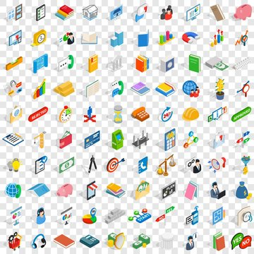 100 crew icons set in isometric 3d style for any design vector illustration