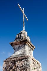 Cross monument on top of a Puerto Vallarta hill