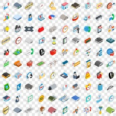 100 logistic delivery icons set in isometric 3d style for any design vector illustration