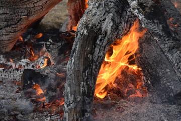 Rustikales Lagerfeuer