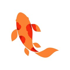 Koi Fishes Logo. Luck, prosperity and good fortune.