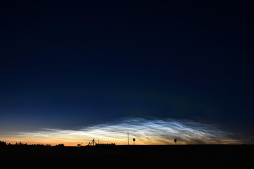 Luminescent Clouds Formations
