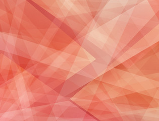 abstract red pink and orange background with layers of white stripes and triangle shapes in random abstract wallpaper pattern design