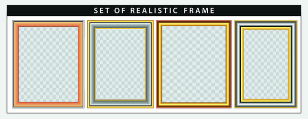 set of realistic frame set. easy to modify