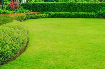 Landscape design, Peaceful Garden, Green garden and lawn Wall mural