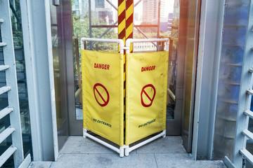 """""""Caution danger"""" sign"""