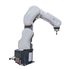 robotic arm for industry isolated on white background