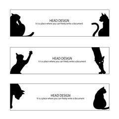 猫のヘッダーデザイン,