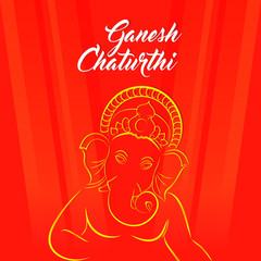 nice and beautiful abstract or poster for Ganesha Chaturthi with nice and creative design illustration.
