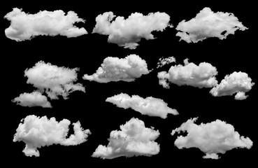 white cloud isolated over black