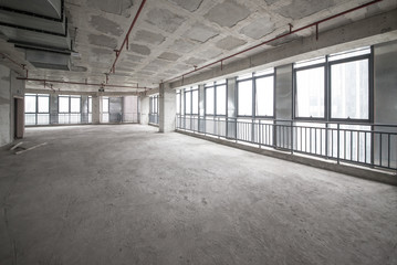 Empty buildings,Interior architecture frame